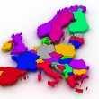 Stock Photo: Map of europe