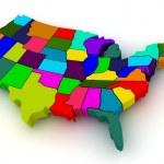 美国的地图 — 图库照片