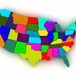 map of usa — Stock Photo #5056335