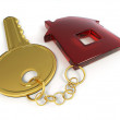 Stock Photo: Key with home