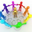 Conceptual image of Leadership - Stockfoto