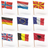 Collection of european flags — Stock Photo