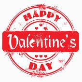 Stamp happy valentine's day — Stock Photo