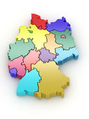Three-dimensional map of Germany. 3d — Stock Photo