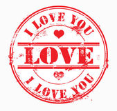 Sello postal te amo. Vector — Foto de Stock