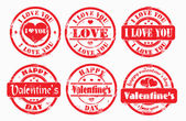 Stamp happy valentine's day and i love you. — Stock Photo