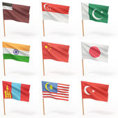 Flags of american country. Collection 6. — Stock Photo