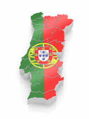 Map of Portugal in Portugese flag colors — Stock Photo