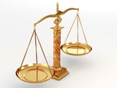 Symbol of justice. Scale — Stock Photo