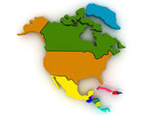 Map of northern america — Stock Photo