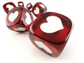 Cubes with heart — Stock Photo