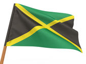 Flag fluttering in the wind. Jamaica — Stock Photo