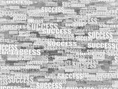Abstract background from words success. 3d — Photo