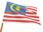 Flag fluttering in the wind. Malaysia — Stock Photo