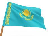 Flaggan fladdrar i vinden. kazakstan — Stockfoto
