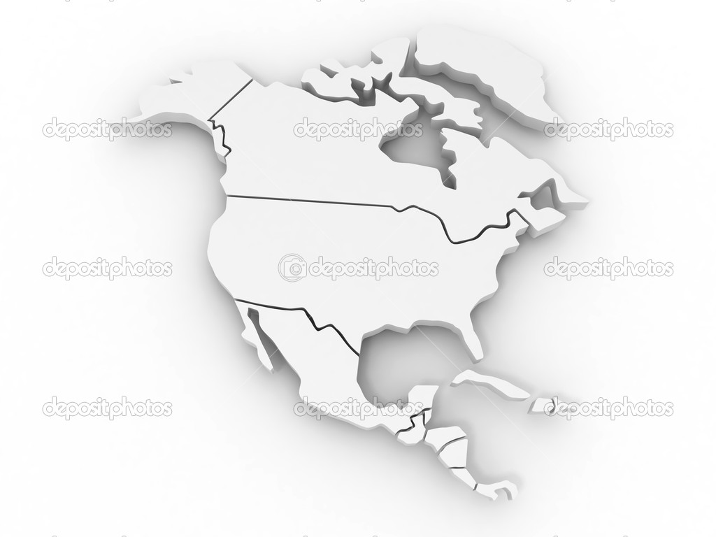 Map of northern america. 3d — Stock Photo #5056231