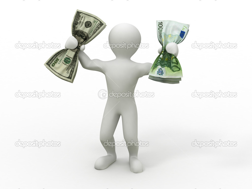 Men with money. 3d — Stock Photo #5056424