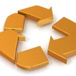 回收标志 — 图库照片