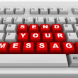 Stock Photo: Keyboard. Send your message