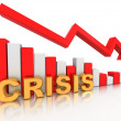 Diagram. Crisis - Stockfoto