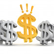 Stock Photo: Sign of dollar