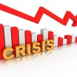 Diagram. Crisis - Stock Photo