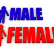 Male and female. Signs — Stock Photo #5069471