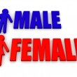 Male and female. Signs — Stock Photo