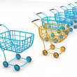 Consumer's baskets — Stock Photo