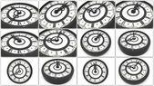 Clock. Collage — Stock Photo