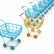 Stock Photo: Consumer's baskets