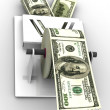 Dollar in the toilet paper — Stock Photo #5070053