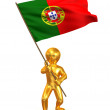 Men with flag. Portugal — Stock Photo