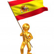 Men with flag. Spain — Stock Photo