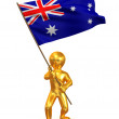 Stock Photo: Men with flag. Australia