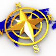 compass Rose — Foto Stock