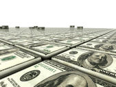 Abstract background from dollars — Stock Photo