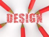 Pencils drawing design — Stock Photo
