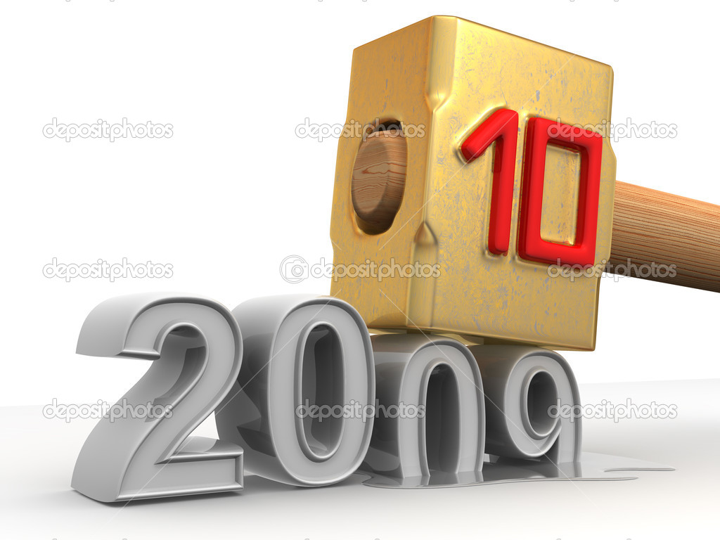 New Year. 2010. 3d — Stock Photo #5071936