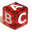 Stock Photo: Cube with ABC. Alphabet
