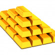 Ingots gold - Stock Photo