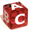 Cube with ABC. Alphabet — Stock Photo