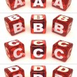 Cubes with letters — Stock Photo