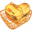 Consumer's basket with Heart - Stock Photo