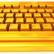 Golden Keyboard - 图库照片