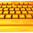 Golden Keyboard - Stockfoto