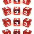 Cubes with numbers — Stock Photo