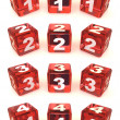 Cubes with numbers - Stockfoto