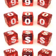 Cubes with numbers - Foto Stock