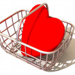 Stock Photo: Consumer's basket with Heart